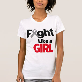 Brain Cancer Fight Like a Girl T Shirts