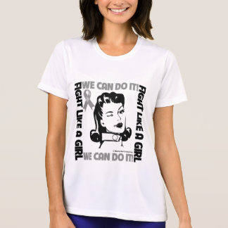Brain Cancer - Fight Like A Girl - We Can Do It Tee Shirts