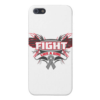 Brain Cancer Fight Like a Girl Wings.png iPhone 5 Case