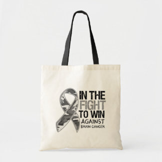 Brain Cancer - Fight To Win Tote Bags