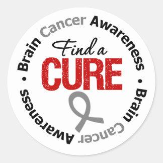 Brain Cancer Find A Cure Classic Round Sticker