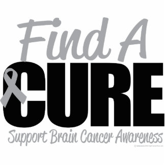 Brain Cancer Find A Cure Acrylic Cut Outs