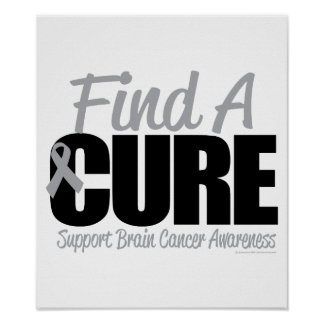 Brain Cancer Find A Cure Poster