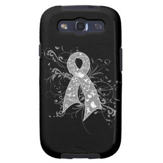 Brain Cancer Floral Swirls Ribbon Samsung Galaxy S3 Cases