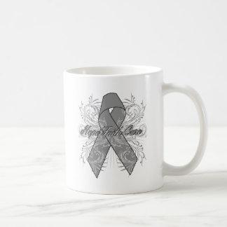 Brain Cancer Flourish Hope Faith Cure Coffee Mug