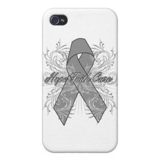 Brain Cancer Flourish Hope Faith Cure iPhone 4/4S Cover