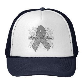 Brain Cancer Flourish Hope Faith Cure Mesh Hat