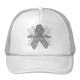 Brain Cancer Flourish Hope Faith Cure Trucker Hats