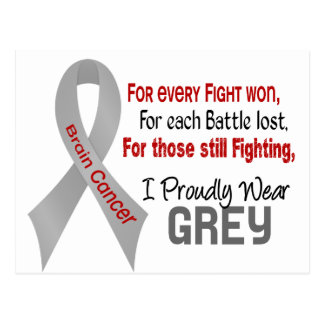 Brain Cancer For Every…..I Proudly Wear Grey 1 Postcard