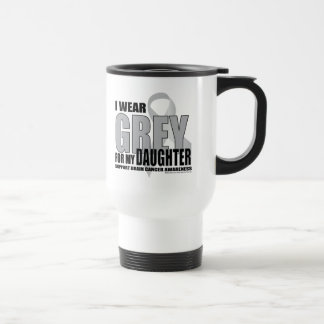 Brain Cancer Grey for Daughter Travel Mug