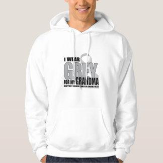 Brain Cancer Grey for Grandma Hoodie
