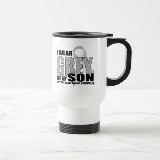 Brain Cancer Grey for Son Travel Mug
