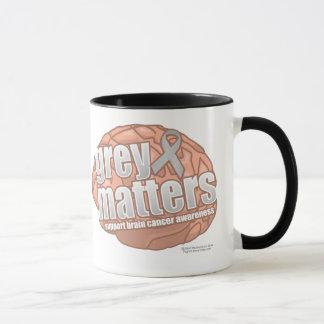 Brain Cancer Grey Matters Mug