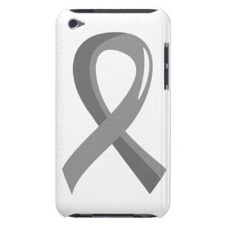 Brain Cancer Grey Ribbon 3 iPod Case-Mate Case