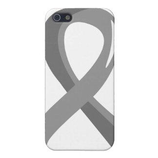Brain Cancer Grey Ribbon 3 iPhone 5 Case