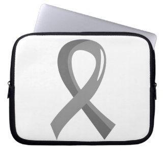 Brain Cancer Grey Ribbon 3 Laptop Computer Sleeves