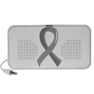Brain Cancer Grey Ribbon 3 Speaker
