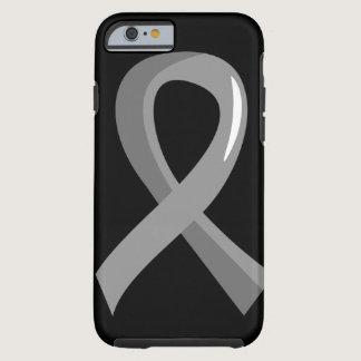 Brain Cancer Grey Ribbon 3 Tough iPhone 6 Case