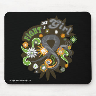 Brain Cancer Groovy Fight Like A Girl Mouse Pad