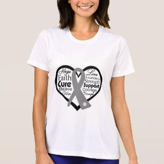 Brain Cancer Heart Ribbon Collage Shirts