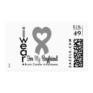 Brain Cancer Heart Ribbon For My Boyfriend Stamps