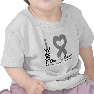 Brain Cancer Heart Ribbon For My Cousin T-shirt