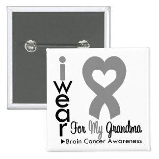 Brain Cancer Heart Ribbon For My Grandma Pins