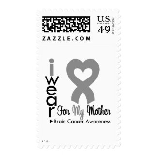Brain Cancer Heart Ribbon For My Mother Postage Stamps