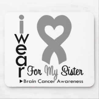 Brain Cancer Heart Ribbon For My Sister Mouse Pad