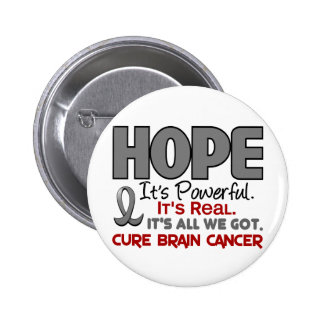 Brain Cancer HOPE 1 Pinback Button