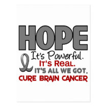 Brain Cancer HOPE 1 Postcard