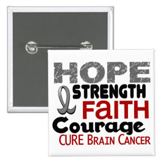 Brain Cancer HOPE 3 Button