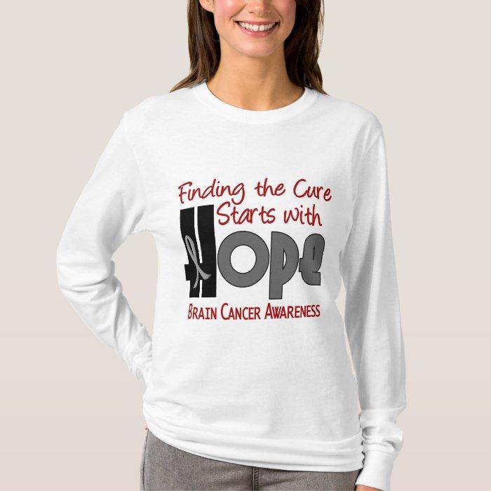 Brain Cancer HOPE 4 T-Shirt