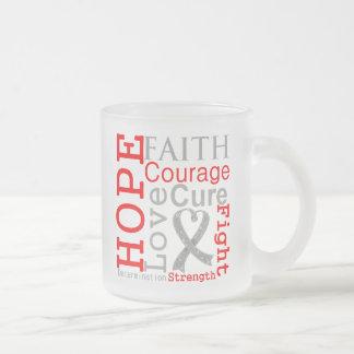 Brain Cancer Hope Faith Motto Mug
