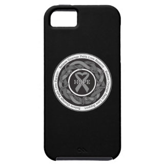 Brain Cancer Hope Intertwined Ribbon iPhone 5 Covers