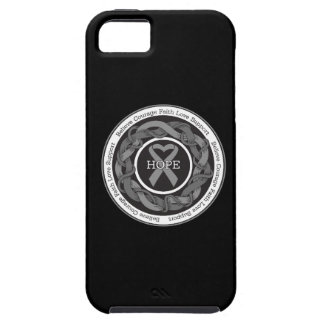 Brain Cancer Hope Intertwined Ribbon iPhone 5 Case