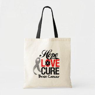 Brain Cancer Hope Love Cure Bag