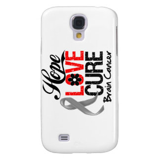 Brain Cancer Hope Love Cure Samsung Galaxy S4 Cases