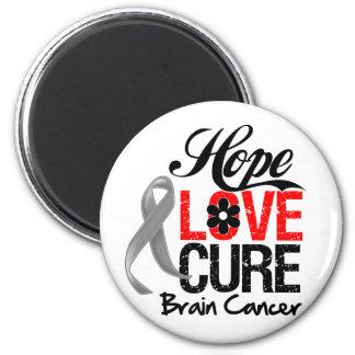 Brain Cancer Hope Love Cure Fridge Magnet