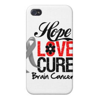 Brain Cancer Hope Love Cure iPhone 4/4S Case