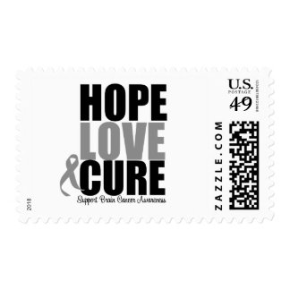 Brain Cancer Hope Love Cure Postage