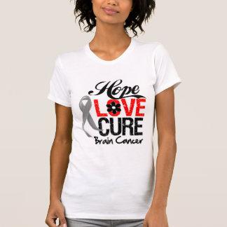 Brain Cancer Hope Love Cure T-shirts
