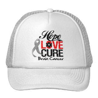 Brain Cancer Hope Love Cure Trucker Hat