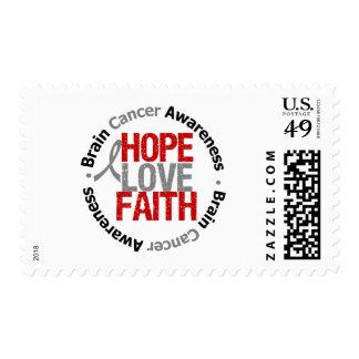Brain Cancer Hope Love Faith Stamp