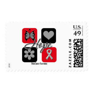 Brain Cancer Hope Love Inspire Awareness Postage Stamps