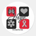 Brain Cancer Hope Love Inspire Awareness Classic Round Sticker