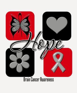 Brain Cancer Hope Love Inspire Awareness Tshirt