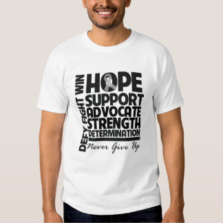 Brain Cancer Hope Support Advocate T Shirt