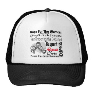 Brain Cancer Hope Tribute Collage Trucker Hats