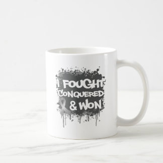 Brain Cancer I Fought Conquered Won Coffee Mugs